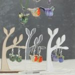 Glass Bird Earrings by Louise Nelson Glassdaft