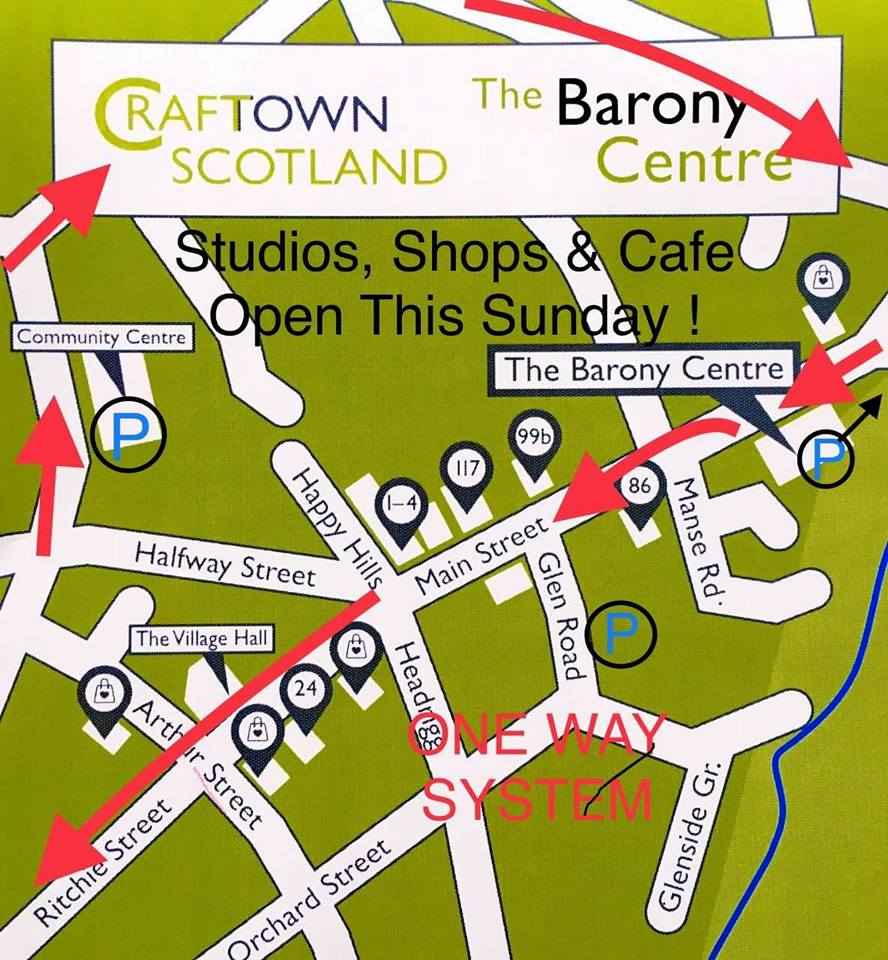 Map of the Craft Town Scotland Studios