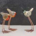 Lampwork Bird Sculpture by Louise Nelson Glassdaft