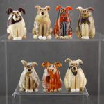 Lampwork Dogs by Louise Nelson Glassdaft