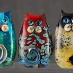 Lampwork Cat by Louise Nelson Glassdaft