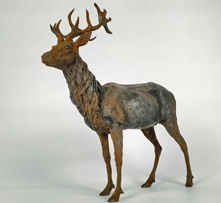 Iron Resin Stag rusted 1/10 Frances Clark Sculpture
