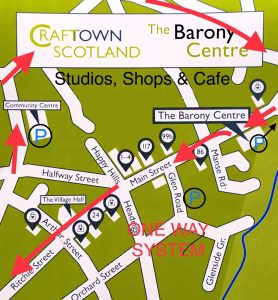 Craft Town Scotland Map of Studios and Barony Centre