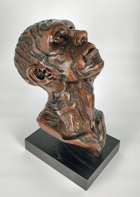 Following the Stars, Antiqued Copper Resin Sculpture 2/3, Frances Clark