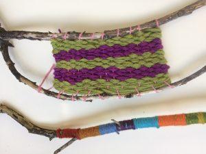 West Kilbride Textile Trail Stick Weaving Workshop