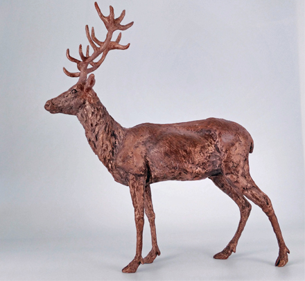 Copper Resin Stag 2/10 Frances Clark Sculpture