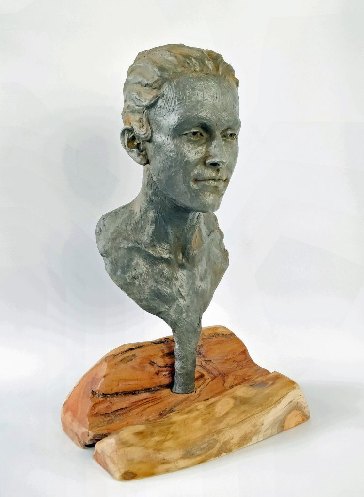 Frances Clark, Emily Iron Resin Sculpture