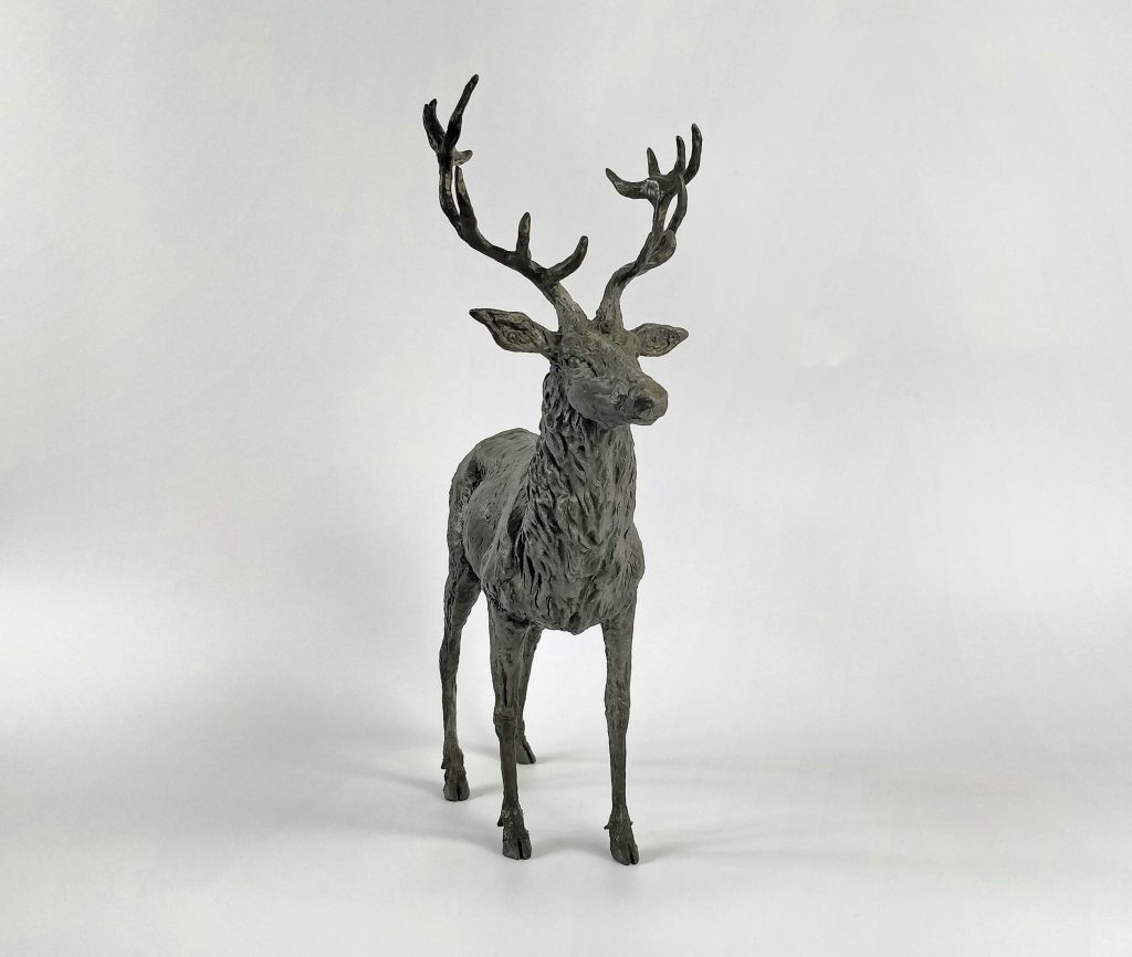 Frances Clark Iron Resin Stag Sculpture 5 of 10