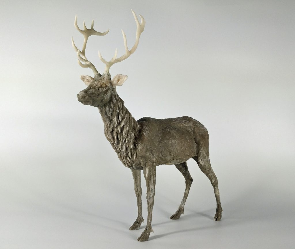 Frances Clark Resin Stag Sculpture 6 of 10