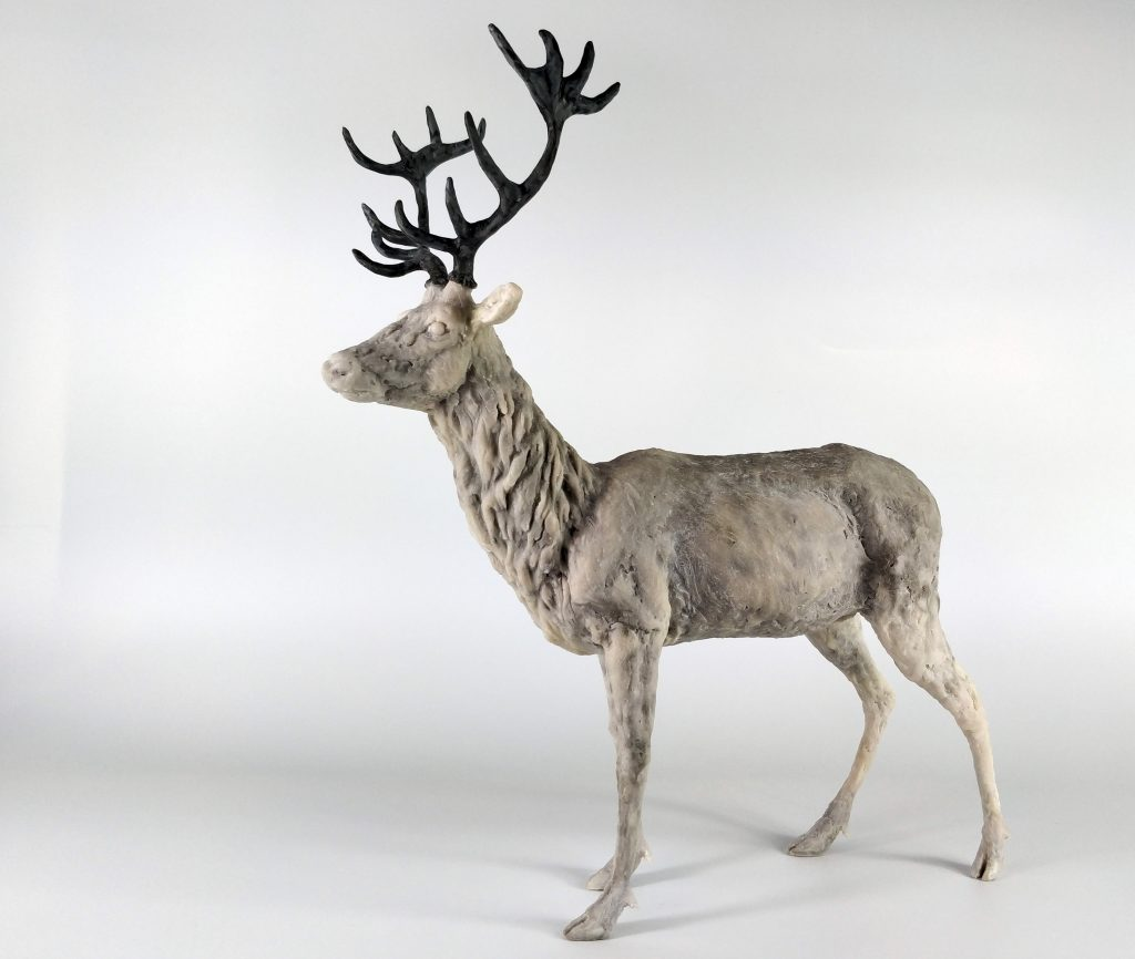 Frances Clark Resin Stag Sculpture 7 of 10