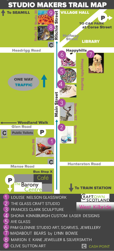 Craft Town Studios Map