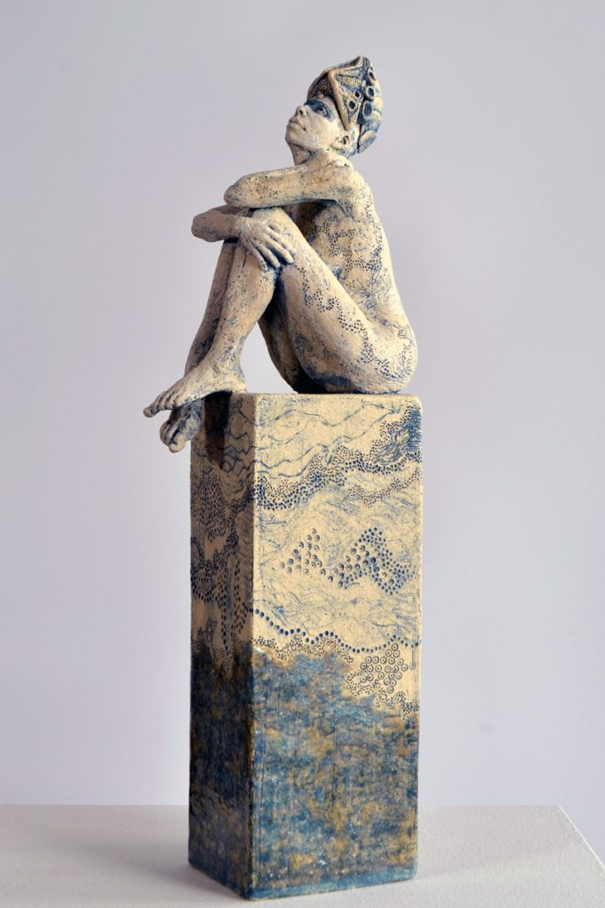 Watching the Skies 2021, stoneware, Frances Clark,