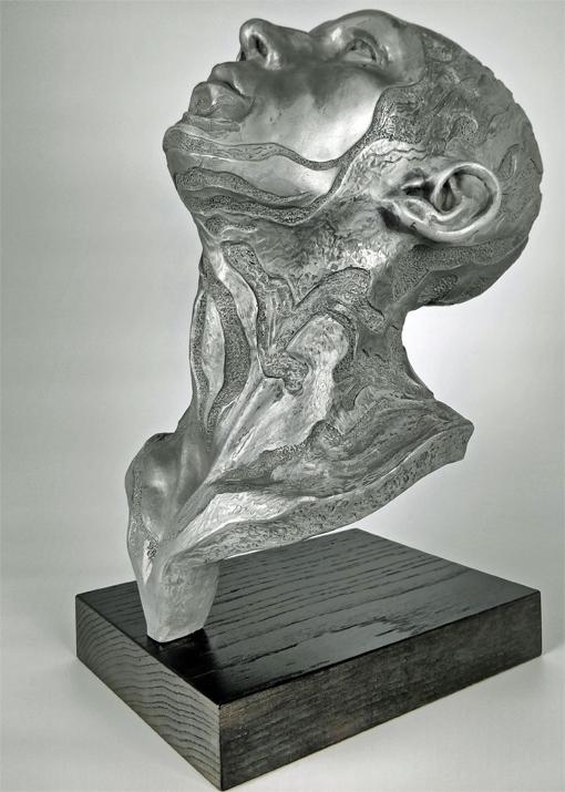 Following the Stars, Aluminium Resin Sculpture 3/3, Frances Clark