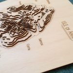 Topographical map of Arran by SK Laser Designs
