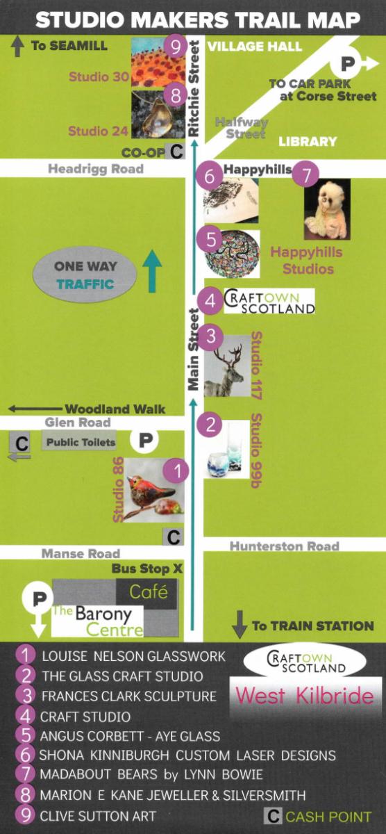 Studio Makers Trail Map