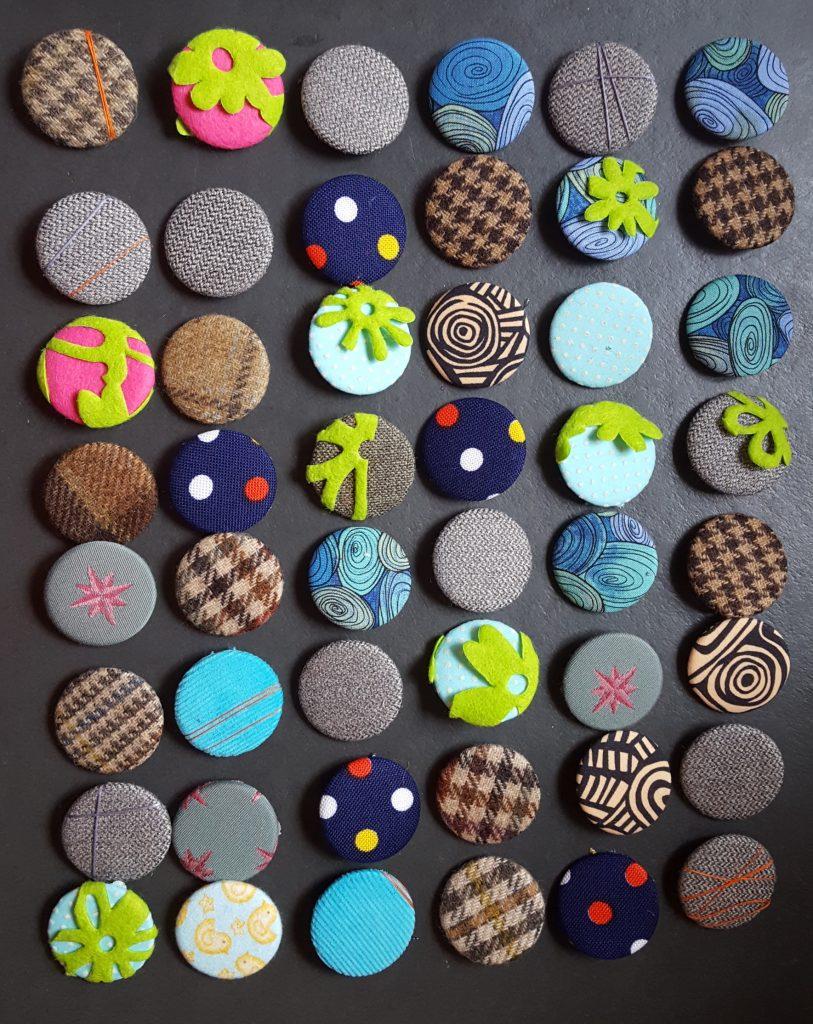 vintage fabric badges