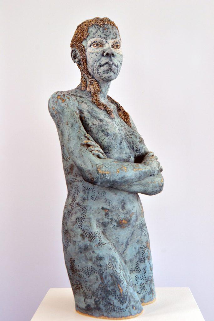 Warrior Goddess 2021, stoneware, Frances Clark