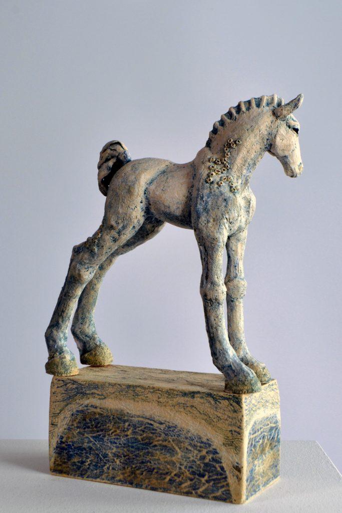 Sea Foal 2021, stoneware, Frances Clark